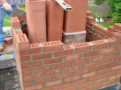 Chimney Rebuild in Vermont by FireBrick Custom Masonry