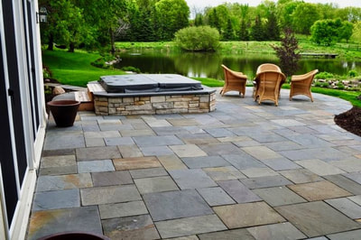 Outdoor Patios in Vermont by FireBrick Custom Masonry